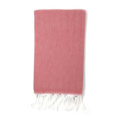 Solid Pestemal Turkish Beach Towel Color: Burgundy