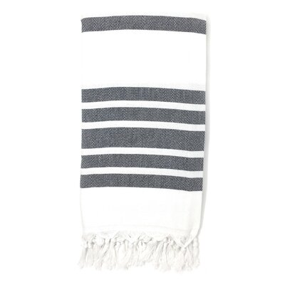 Luxury Pestemal Fouta Turkish Beach Towel Color: Gray