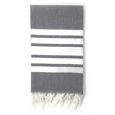 Luxury Pestemal Fouta Turkish Beach Towel Color: Charcoal