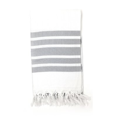 Luxury Pestemal Fouta Turkish Beach Towel Color: Silver