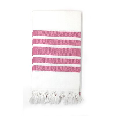 Luxury Pestemal Fouta Turkish Beach Towel Color: Pink