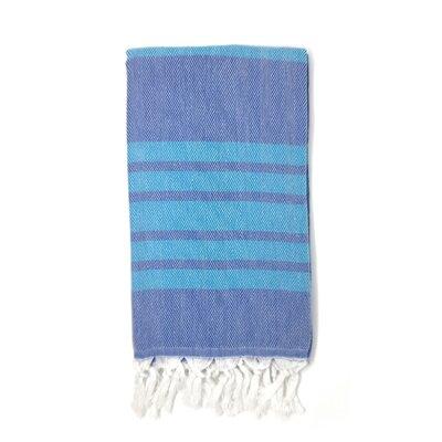 Luxury Pestemal Fouta Turkish Beach Towel Color: Navy Blue