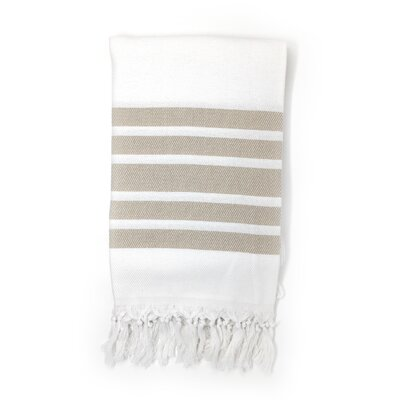 Luxury Pestemal Fouta Turkish Beach Towel Color: Beige