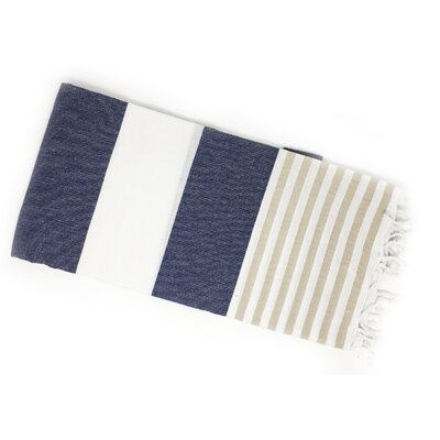 Pestemal Turkish Beach Towel Color: Blue