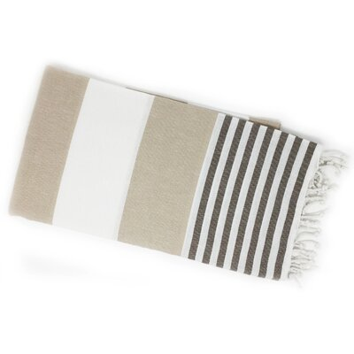 Pestemal Turkish Beach Towel Color: Beige