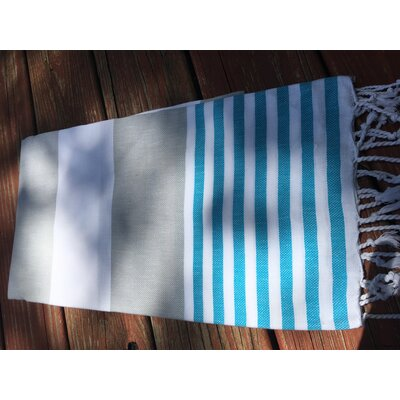 Pestemal Turkish Beach Towel Color: Gray