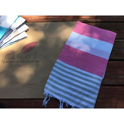 Pestemal Turkish Beach Towel Color: Pink
