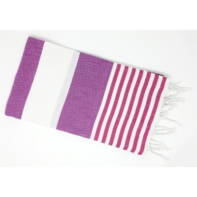 Pestemal Turkish Beach Towel Color: Purple