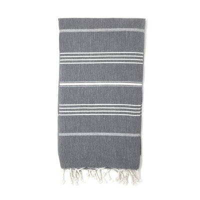 Striped Pestemal Luxury Beach Towel Color: Gray