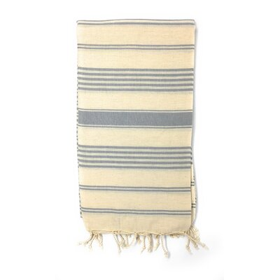 Striped Pestemal Luxury Beach Towel Color: Blue