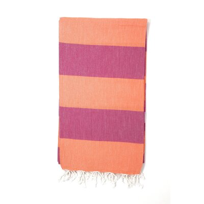 Pestemal Sauna Luxury Beach Towel Color: Orange