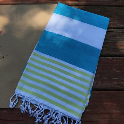 Pestemal Turkish Beach Towel Color: Turquoise
