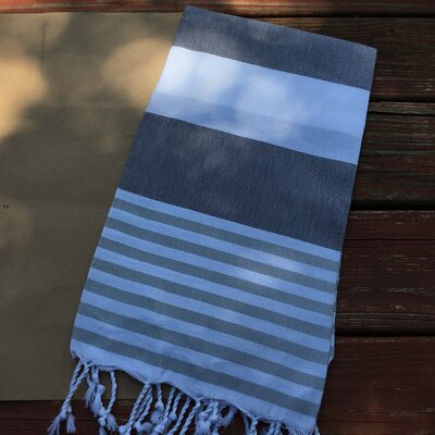 Pestemal Turkish Beach Towel Color: Silver