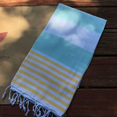 Pestemal Turkish Beach Towel Color: Yellow