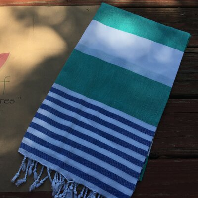 Pestemal Turkish Beach Towel Color: Green