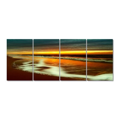 Tide in Sunset Stretched Digital Photographic Print Multi-Piece Image on Wrapped Canvas