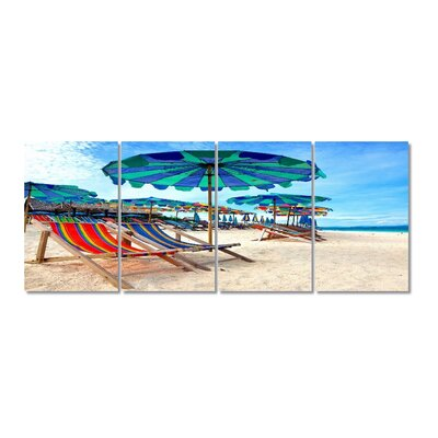 Relax on Beach Stretched Digital Photographic Print Multi-Piece Image on Wrapped Canvas