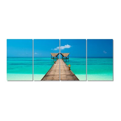 Path on the Sea Stretched Digital Photographic Print Multi-Piece Image on Wrapped Canvas