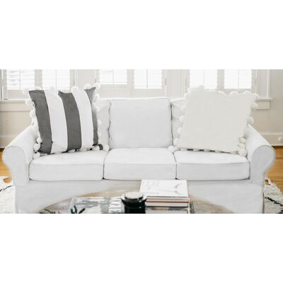 Karn 100% Cotton Euro Pillow Color: Ivory