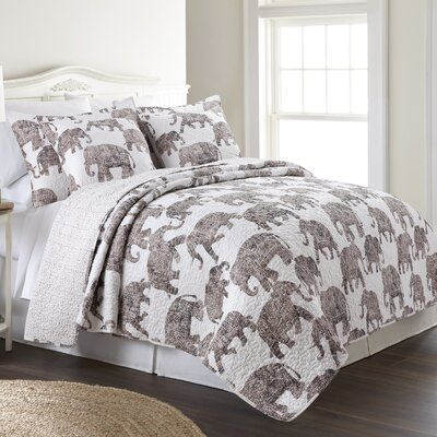 Hickman Cotton Reversible Quilt Set Size: Full/Queen
