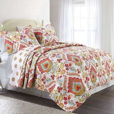 Florentin Cotton Reversible Quilt Set Size: King