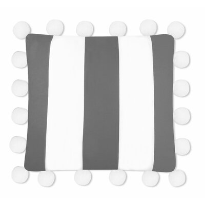 Karn 100% Cotton Stripe Euro Pillow Color: Gray/White