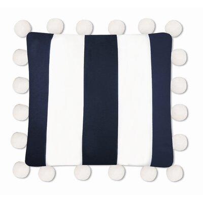 Karn 100% Cotton Stripe Euro Pillow Color: Navy/White