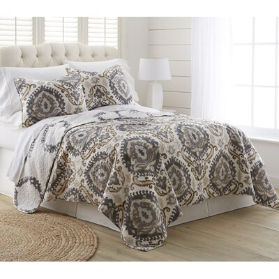 Oakridge 3 Piece Reversible Quilt Set Size: King