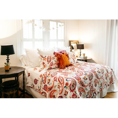 Gouaro 3 Piece Reversible Quilt Set Size: Full/Queen