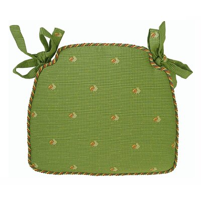 Tailored Dining Chair Cushion Fabric: Green