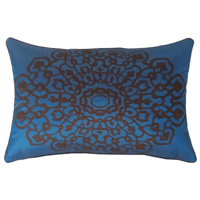 Charandeep Lumbar Pillow Color: Cobalt/Chocolate