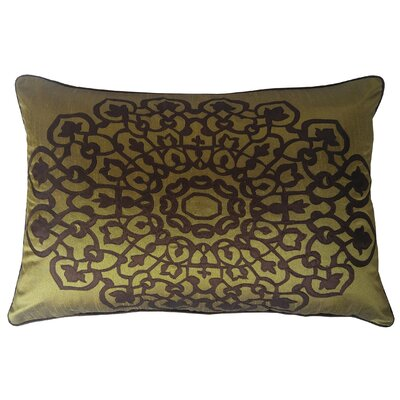 Charandeep Lumbar Pillow Color: Olive/Chocolate