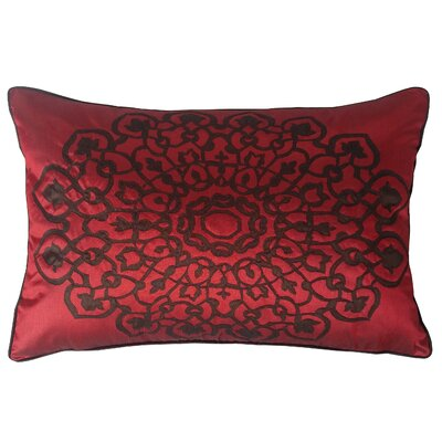 Charandeep Lumbar Pillow Color: Merlot/Chocolate