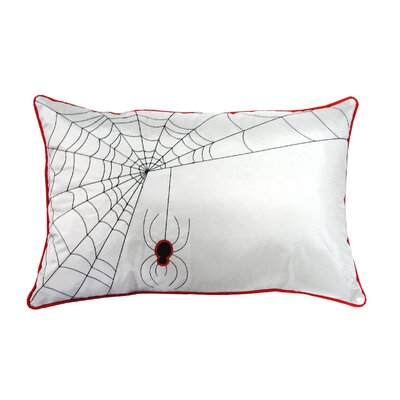Spider Web Lumbar Pillow Color: White