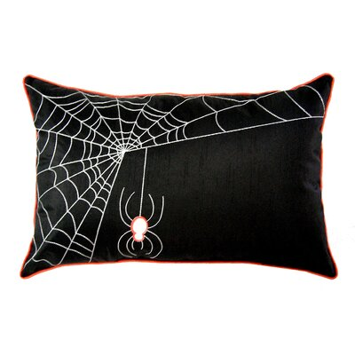 Spider Web Lumbar Pillow Color: Black