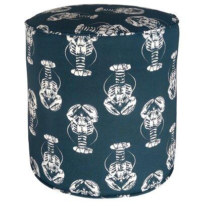 Atlantis Sea Friends Lobster Pouf Ottoman Upholstery: Navy