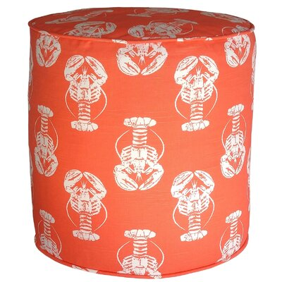 Atlantis Sea Friends Lobster Pouf Ottoman Upholstery: Salmon