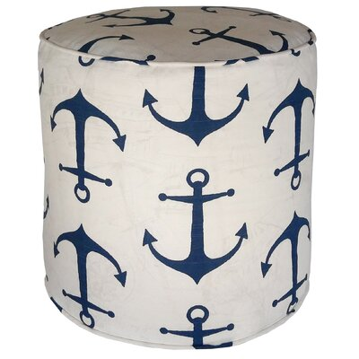 Barview Anchors Pouf Ottoman Upholstery: Navy