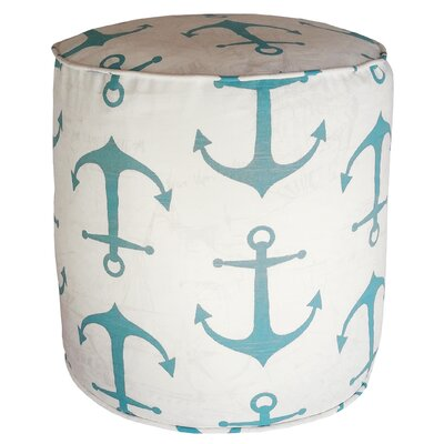 Barview Anchors Pouf Upholstery: Coastal Blue
