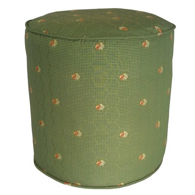 Quichocho Le Coq Gaulois French Country Pouf Ottoman Upholstery: Green