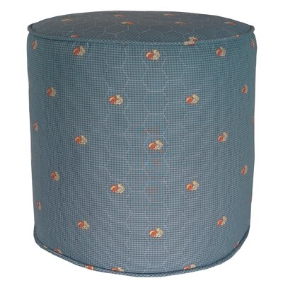 Quichocho Le Coq Gaulois French Country Pouf Ottoman Upholstery: Blue
