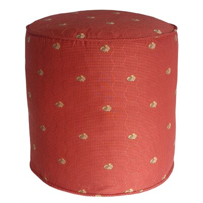 Quichocho Le Coq Gaulois French Country Pouf Ottoman Upholstery: Russet