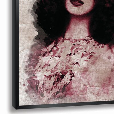 'Elegant' Framed Graphic Art Print in Red Size: 18