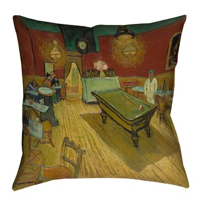 Burdick The Night Cafe Square Cotton Pillow Cover Size: 16 H x 16 W
