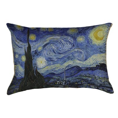 Woodlawn Starry Night Outdoor Pillow Cover Color: Blue
