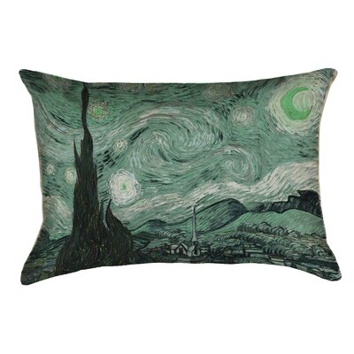 Woodlawn Starry Night Lumbar Pillow Color: Green, Size: 10 x 14