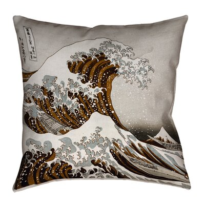 Raritan The Great Wave Indoor Throw Pillow Color: Sepia, Size: 36 x 36