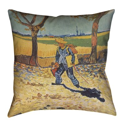 Zamora Self Portrait Square Cotton Throw Pillow Size: 18 x 18