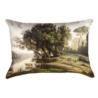 Swissvale Italian Landscape Lumbar Pillow with Concealed Zipper