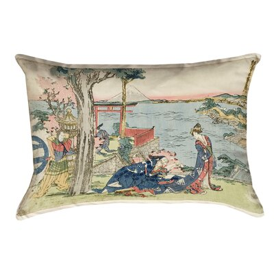 Enya Japanese Courtesan Linen Pillow Cover
